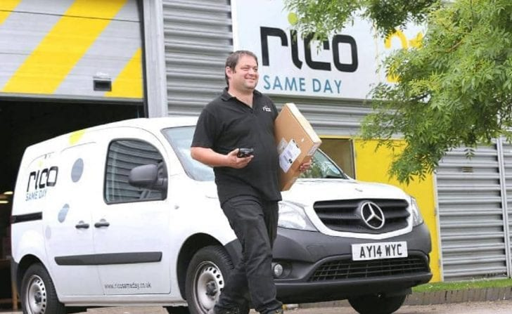 Rico same day driver carry parcel with van