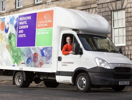 Changeworks Recycling delivery van