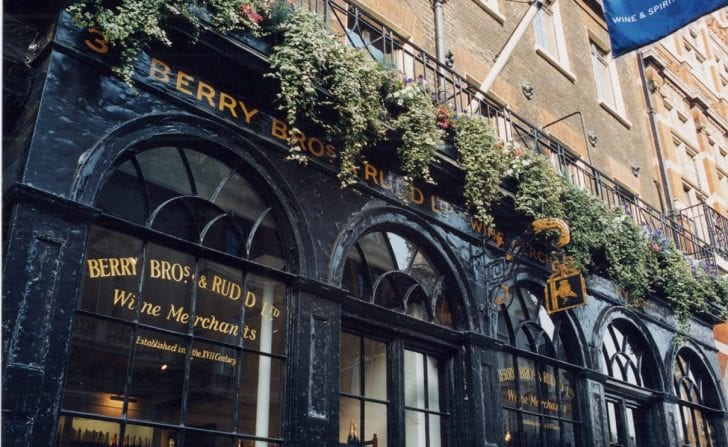 Berry Brothers and Rudd wine merchants