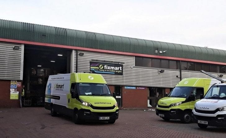Fixmat vans outside depot