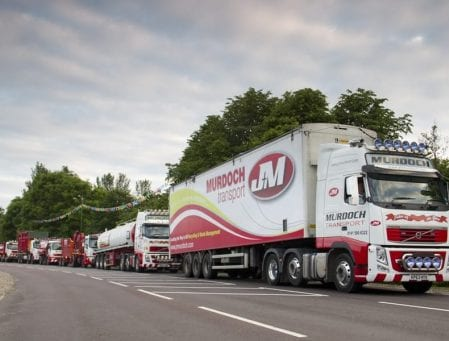 J&M vehicles out on the road
