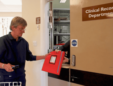 NHS records being delivered