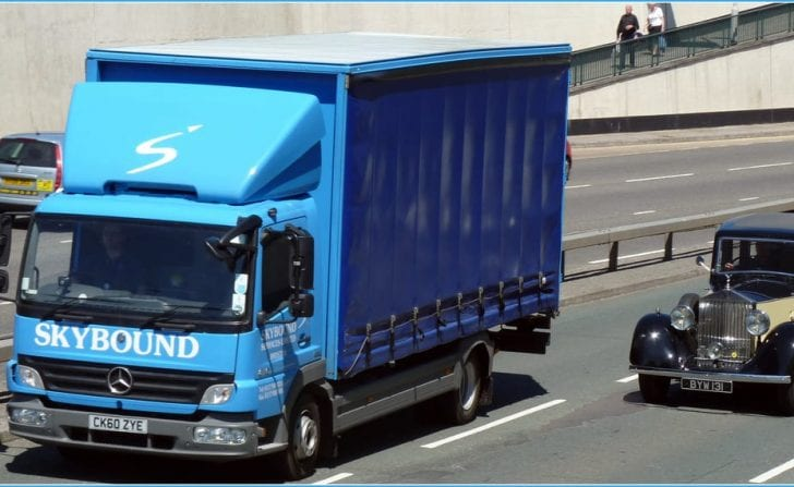 Skybound truck out on the road