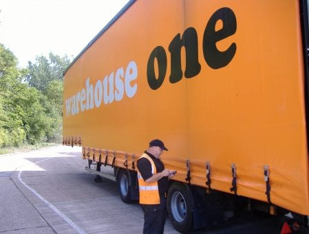Warehouse One lorry