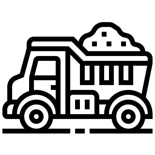 Construction tipper lorry icon