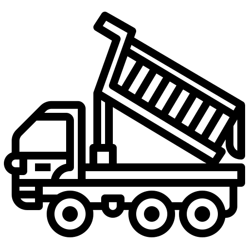 Tipper truck icon