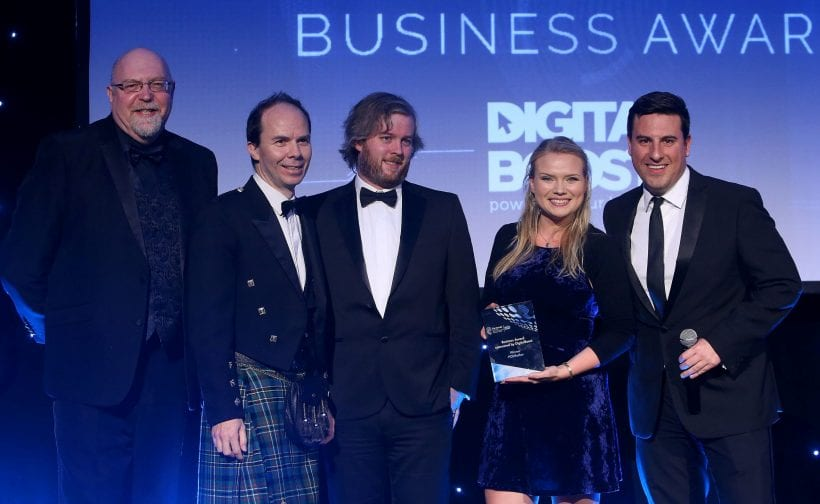 PODFather wins Business Award from The Herald Scotland