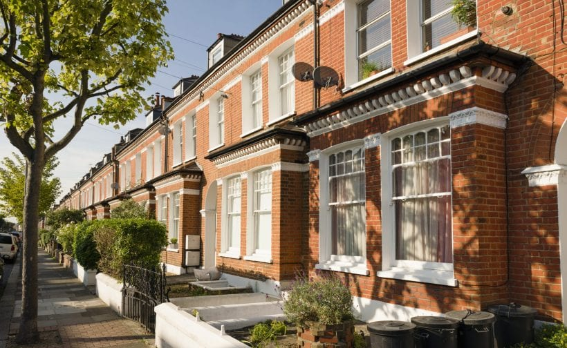Red brick terraces houses