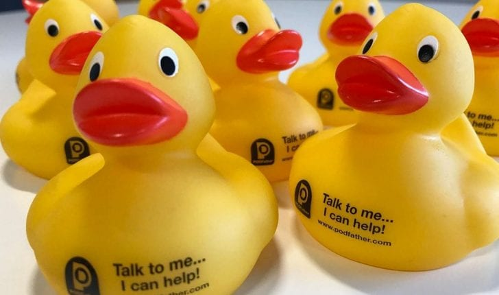 PODFather rubber ducks