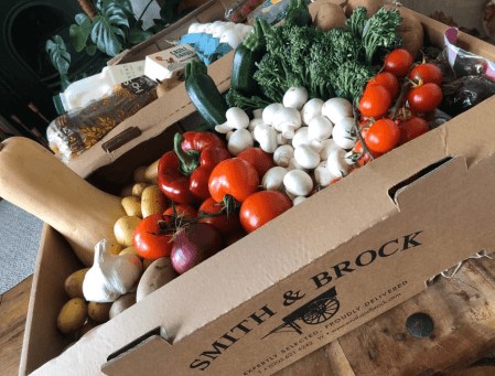 Smith & Brock vegetable box