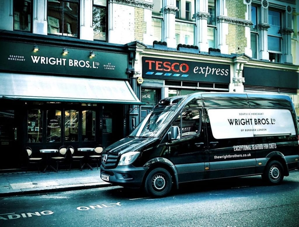 Wright Brothers van making a London Delivery