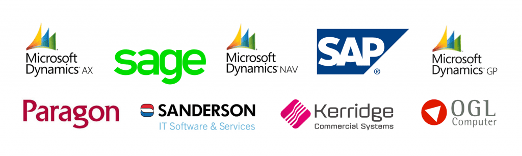 PODFather integrations showing company logos