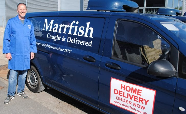 Marrfish delivery van and driver planned by PODFather