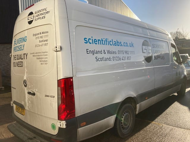 Scientific Laboratory Supplies van